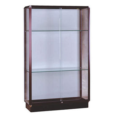 Prominence Floor Display Case - Bronze