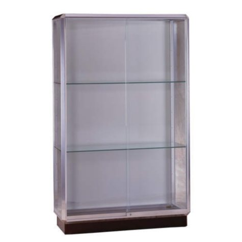 Prominence  Floor Display Case - Chrome