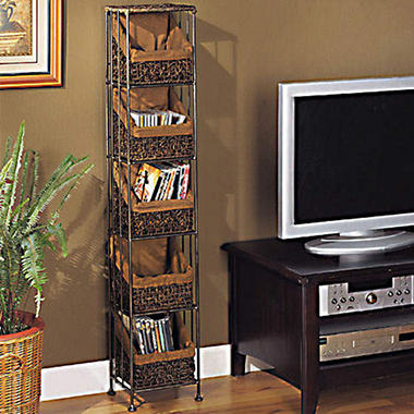 5 Basket CD/DVD Media Storage Tower