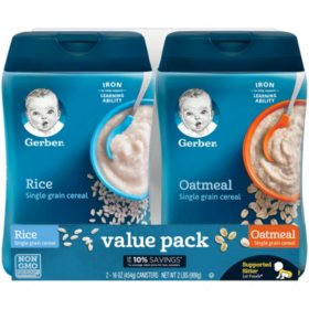 Gerber Rice/Oatmeal Cereal Twin Pack (32 oz.)