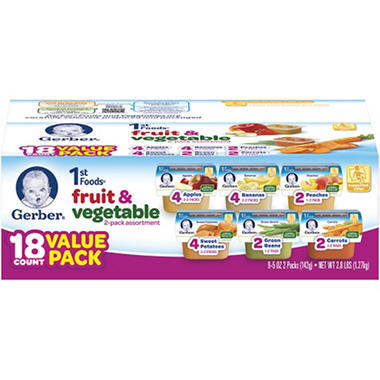 Gerber 1st Foods Assorted - 18 pk. - 2.5 oz.
