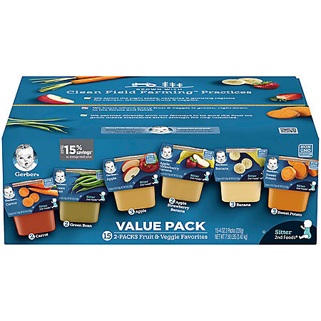 Gerber 2nd Foods Fruit & Veggie Value Pack (4 oz., 30 ct.)