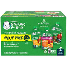 Gerber Organic 2nd Foods, Variety Pack A (3.5 oz., 12 ct.)