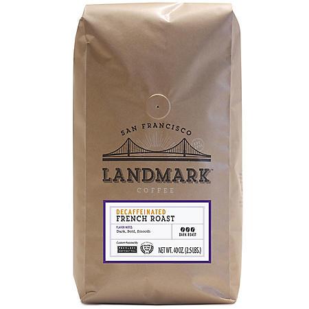 Landmark Decaf Ground Coffee, French Roast (40 oz.)