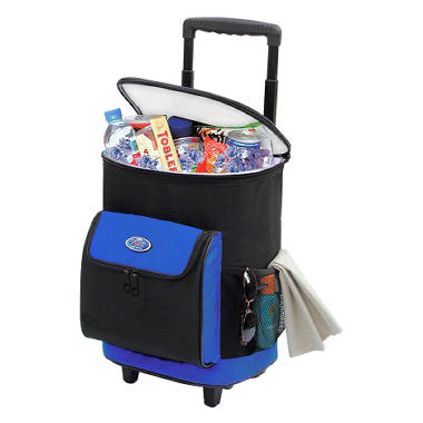 TCL Cool Carry Single Section Rolling Cooler - Blue