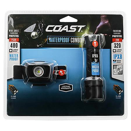 COAST High Performance Waterproof Flashlight & Headlamp Value Pack