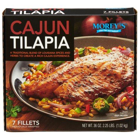 Morey's Cajun Tilapia, Frozen (7 Fillets)