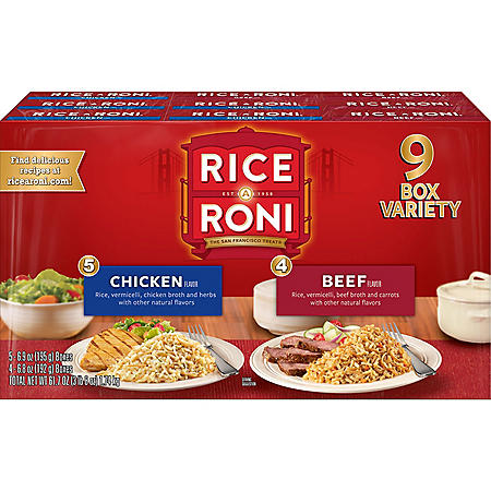 Rice-A-Roni Chicken and Beef Variety Pack (9 ct.)