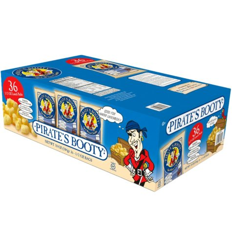 Pirate's Booty Aged White Cheddar Puffs (0.5 oz bag, 36 ct.)