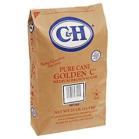 C&H Golden C Sugar - 25 lb. bag
