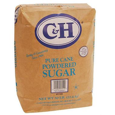 C H Powdered Sugar 50 Lb Bag