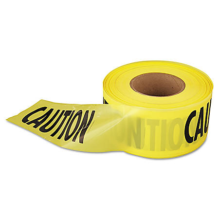 "Empire Caution Barricade Tape  - Yellow and Black (3"" x 1,000')"
