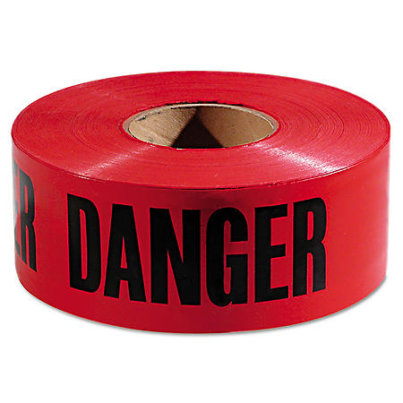 "Empire Danger Barricade Tape - Red and Black (3"" x 1,000')"