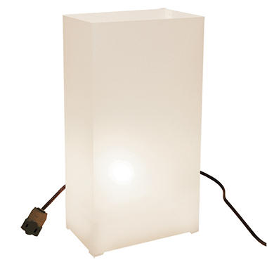 10 ct. Electric Luminaria Kit - White