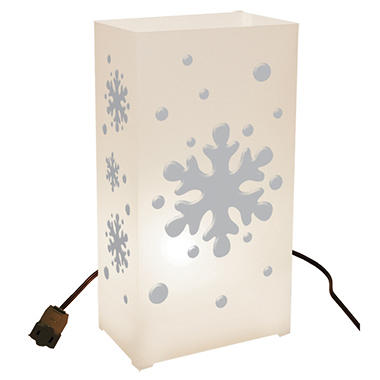 10 ct. Electric Luminaria Kit - Snowflake