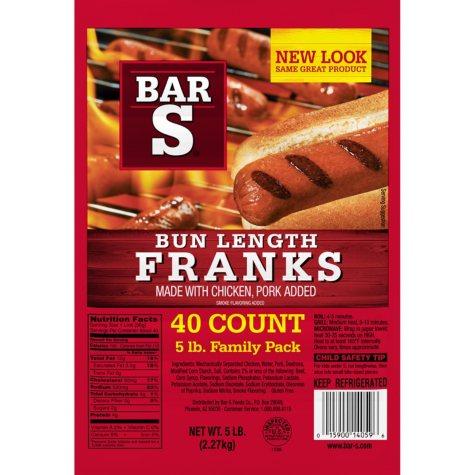 Bar-S Franks, Family Pack (5 lbs.)