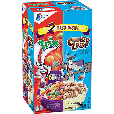 Trix & Cookie Crisp Cereal Variety Pack (28 oz.)
