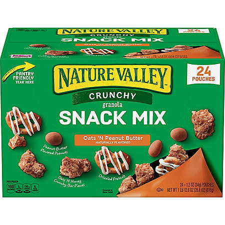 Nature Valley Crunchy Granola Snack Mix, Oats 'N Peanut Butter (1.2 oz., 24 ct.)