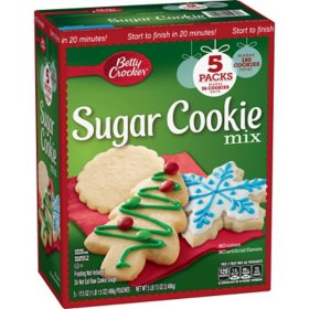 Betty Crocker Holiday Sugar Cookie Mix (17.5 oz., 5 pk.)