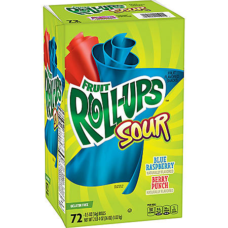 Fruit Roll-Ups Sour, Variety Pack (0.5 oz., 72 ct.)