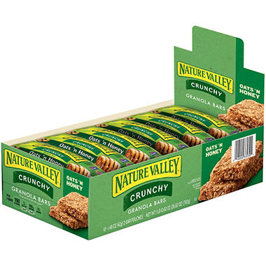 Nature Valley Oats & Honey Granola Bars - 1.5 oz. - 18 - 2 Bar Pouches