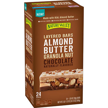 Nature Valley Layered Almond Butter Chocolate Bars (24 ct.)