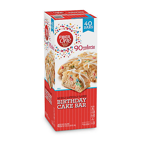Fiber One 90 Calorie Birthday Cake Bar (35.6 oz, 40 ct.)