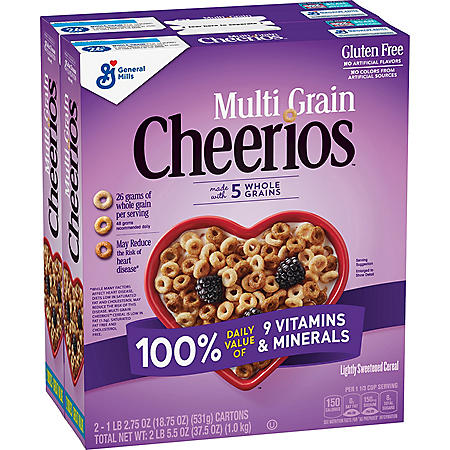 Multi-Grain Cheerios Gluten-Free Cereal (18.75 oz., 2 pk.)