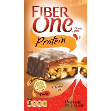 Fiber One Protein Chewy Bars - Caramel Nut - 21 oz. - 18 ct.
