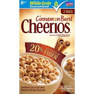 CINNAMON BURST CHEERIOS 36.5 ONZ.