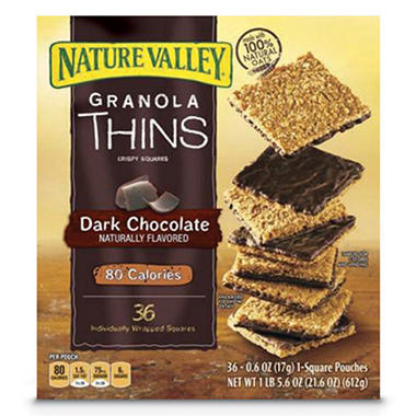 Nature Valley Dark Chocolate Granola Thins (36 ct.)