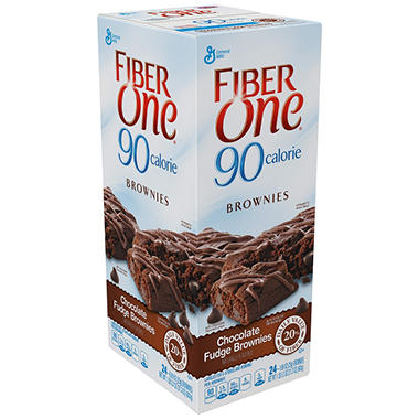 Fiber One 90 Calorie Chocolate Fudge Brownies - 24 ct.