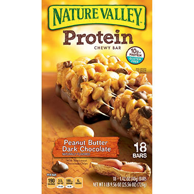 Nature Valley Peanut Butter Dark Chocolate Flavored Protein Bars - 18 ct.