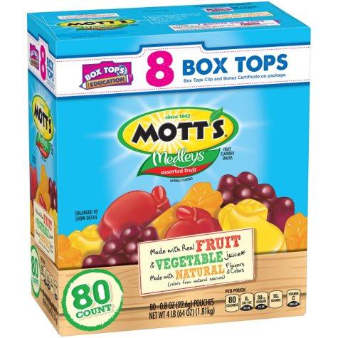 Mott's Medleys Assorted Fruit Flavored Snacks (0.8 oz., 80 pk.)