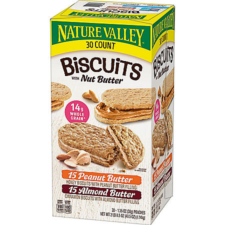 Nature Valley Biscuit Sandwich, Variety Pack (30 ct.)