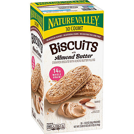 Nature Valley Biscuit Sandwich with Almond Butter (30 ct.)