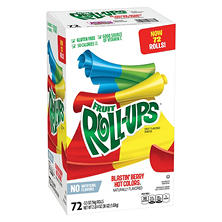 Fruit Roll-Ups Blastin' Berry Hot Colors (0.5 oz., 72 ct.)