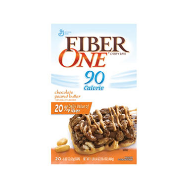 Fiber One - Chocolate & Peanut Butter - 20 ct.