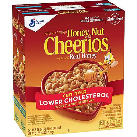 Honey Nut Cheerios Gluten-Free Cereal (24 oz., 2 pk.)