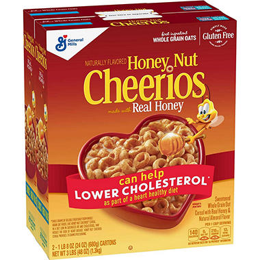 honey nut cheerios cereal 24 oz box 2 pk sam s club