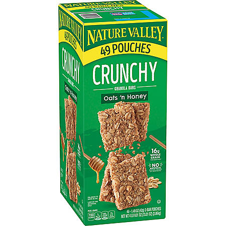 Nature Valley Oats 'n Honey Crunchy Granola Bars (49 pk.)