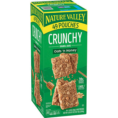 Nature Valley Oats N Honey Crunchy Granola Bars 0 75 Oz 98 Pk