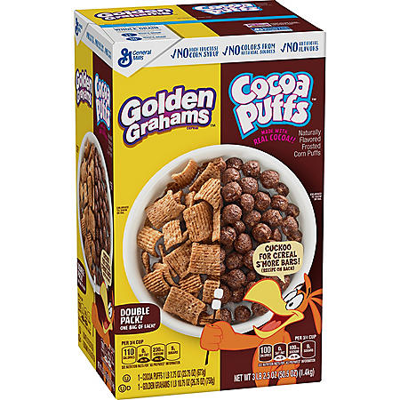 Golden Graham & Cocoa Puff Variety Pack Cereal (50.5 oz.)
