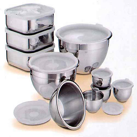 Stainless Prep & Storage Bowls - 20 pc.