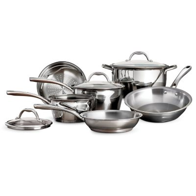 Tramontina Tri Ply Stainless Steel 9 Piece Cookware Set