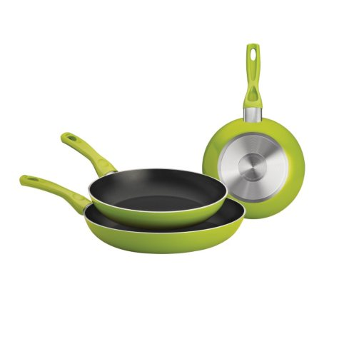 3PK SAUTEE PANS ASSORTED COLORS
