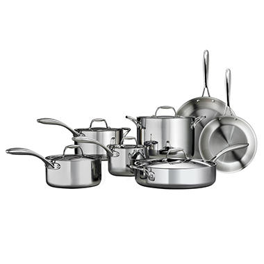 Tramontina Tri Ply Clad Stainless Steel Cookware Set 12