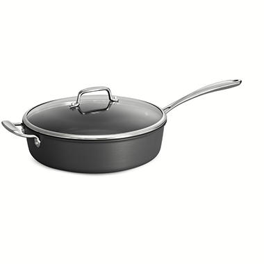 tramontina gourmet hard anodized 5 quart non stick covered saut pan sam 39 s club. Black Bedroom Furniture Sets. Home Design Ideas