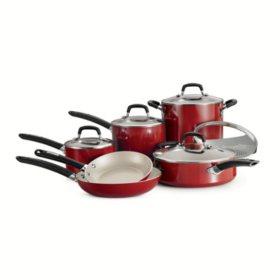 Tramontina 11-Piece Ceramic Cookware Set - Assorted Colors