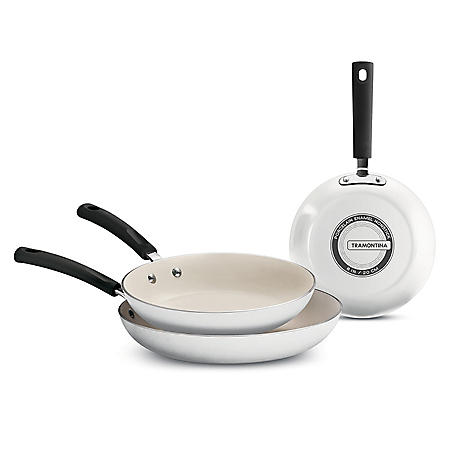 "Tramontina 3-Piece Ceramic-Reinforced Nonstick Fry Pan Set (8"", 10"" and 12"")"